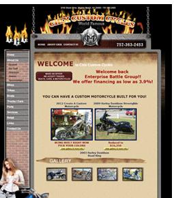 Chix Custom Cycles Website