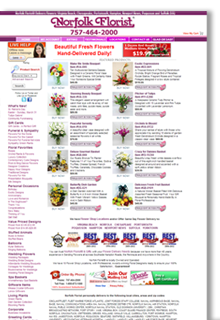 Norfolk Florist Website