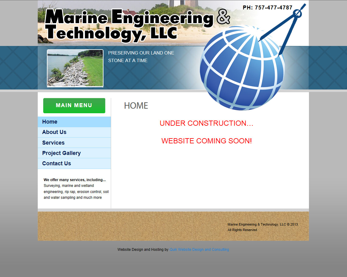 A marine engineering specialist who has never had a website before.  He was losing business to his competitors and now he has the ability to compete online with the best!  http://www.marineengineeringllc.com