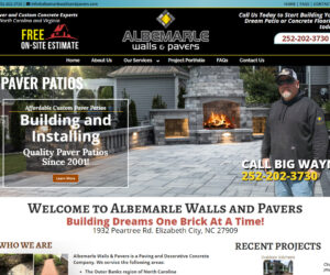 Albemarle Walls and Pavers Web Design Project