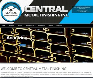 Central Metal Finishing Web Design Project