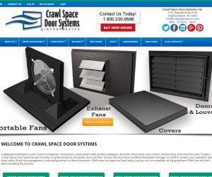 Crawl Space Door Systems Website Design Project