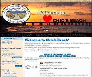 Chic's Beach Civic League Web Design Project