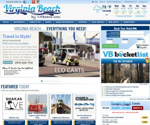 Virginia Beach Vacations Website Design Project