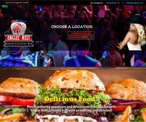 Eagles Nest Rockin Country Bar Web Design Project