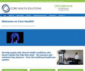 VA Core Health Solutions Web Design Project