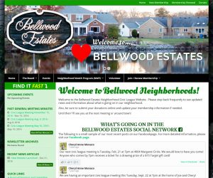 Bellwood Neighborhood Civic League Web Design Project