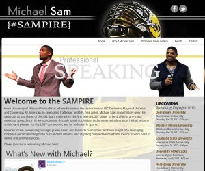 Michael A Sam – Professional Speaker Web Design Project