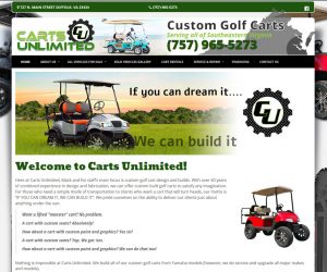Carts Unlimited VA Web Design Project