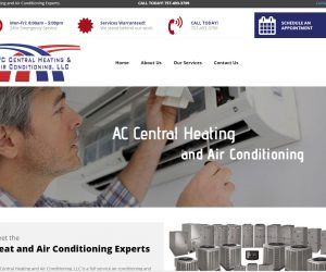 AC Central Heating and Air Web Design Project