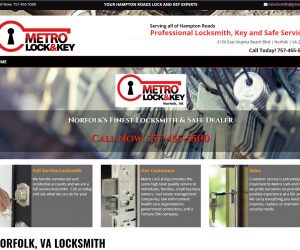 Metro Lock N Key Web Design Project