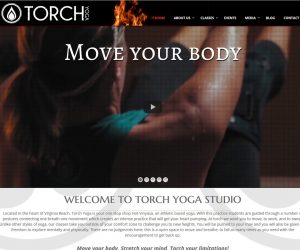 Torch Yoga Studio Web Design Project