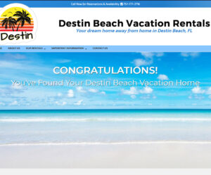 Destin Beach Vacation Rentals Web Design Project
