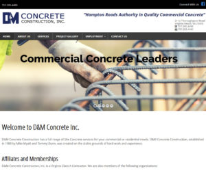 DM Concrete Web Design Project