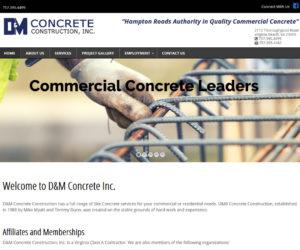DM Concrete Web Design Project
