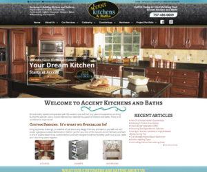 Accent Kitchens and Baths Web Design Project