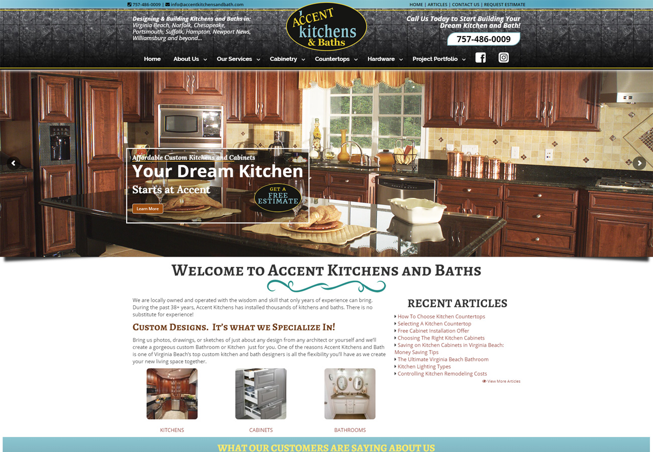 Accent Kitchens and Baths - Quik Website Design and Consulting Inc.