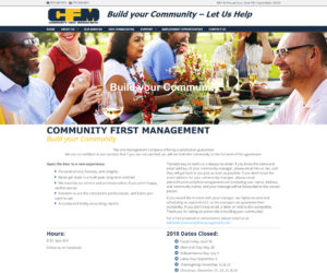 Community First Management Web Design Project