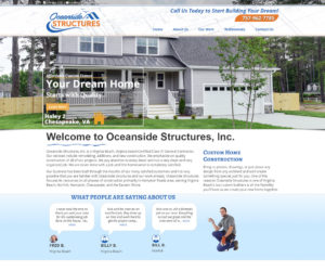 Oceanside Structures Web Design Project