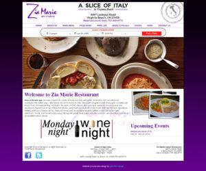 Zia Marie Italian Ristorante Web Design Project