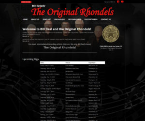 The Original Rhondels – Bill Deal's Band Web Design Project