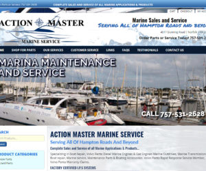 Action Master Marine Website Design Project