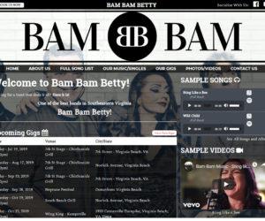 BAM BAM BETTY Web Design Project