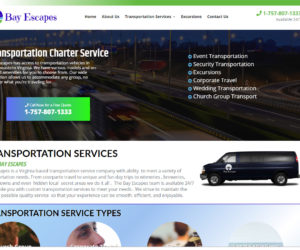 Bay Escapes Web Design Project