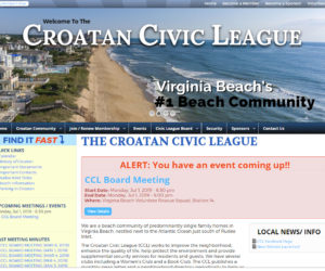 Croatan Civic League Website Design Project
