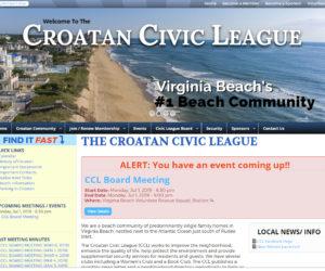 Croatan Civic League Website Design Project