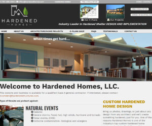 Hardened Homes Web Design Project