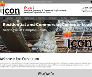Icon Construction Web Design Project